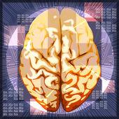 Brain work — Stock Vector