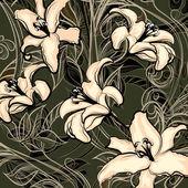 Wild lillies — Stock Vector