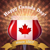 Canada Day goblet — Stock Vector