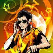 Disc jockey — Cтоковый вектор