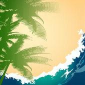 Fondo de las vacaciones de verano — Vector de stock
