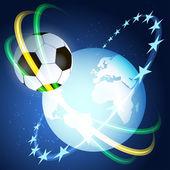 Football illustration to world championship — Stock Vector
