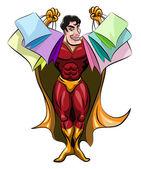 Sacos de compras de exploração de super-herói — Vetorial Stock