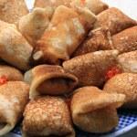 Stuffed pancakes with caviar — Stock Photo #13960747