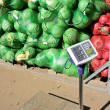 Stock Photo: Fresh vegetables in bags in a vegetable warehouse