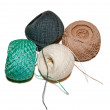 Balls of threads of different colou — Stock Photo
