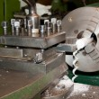 Stock Photo: Sharp chisels lathe machined parts