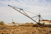 Working huge, walking dredge — Stock Photo