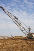 The industrial mechanism - a mountain dredge — Stock Photo