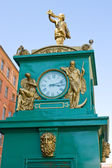 Antique street clock in downtown St. Petersburg. Russia. — Stock Photo