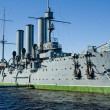 The symbol of the communist uprising in Russia - the Cruiser Aurora. St. Petersburg. Russia. — Stock Photo