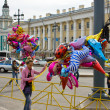 Stok fotoğraf: Holiday on streets of city St. Petersburg. Russia