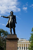 The famous monument of Russian poet Alexander Pushkin in St. Petersburg. Russia. — Stok fotoğraf