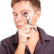 Stockfoto: Stylist holding scissors