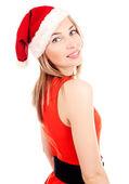 Woman in christmas costume — Stock Photo