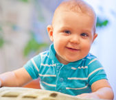 Little baby boy at home — Stock Photo