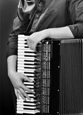 Frayed buttons of accordion — Stock Photo