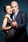 Couple of lovers dancing tango — Stock Photo