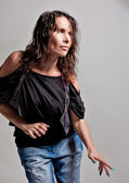 Woman dancing agressively — Fotografia Stock