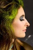 Hermoso maquillaje sombra de ojos de arte — Foto de Stock