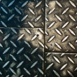 Grunge rusty metal background, metallic panels — Stock Photo