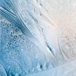 Stock Photo: Frosty natural pattern on winter window