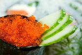 Caviar with a cucumber — Stock Photo
