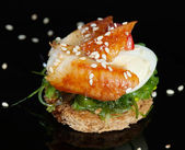Canape with salmon — Stock fotografie