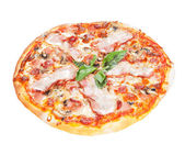 Pizza on a white background — Stock fotografie