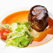 Stock Photo: Filet mignon with vegetables
