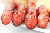 Grilled sausage collage. — Stock Photo