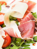 Salad with ham — Stock Photo