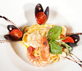 Spaghetti with seafood — Stock fotografie