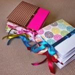 Colorfull DVD Cases in stack — Stock Photo
