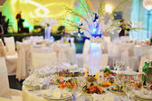 Wedding banquet in a restaurant — Stock Photo