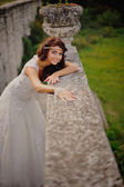 Beautiful bride smiling — Stock Photo