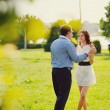 Stock Photo: Heterosexual Couple walking in park