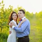 Portrait of a romantic couple — Stock Photo