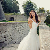 Emotions of a beatiful bride — Stock Photo