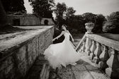 Gorgeous bride outdoors — Stock Photo