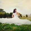 Portrait of Young Bride Wearing Wedding Dress - Foto de Stock