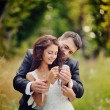 Married Couple embracing - Foto de Stock