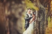Married Couple in forest — Stock Photo