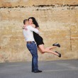 Romantic mature couple having a great time — Stock fotografie