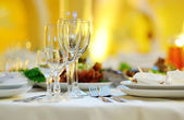 Banquet in restaurant — Stock Photo