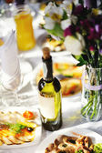 Restaurant. Wedding banquet, served table. — Стоковое фото