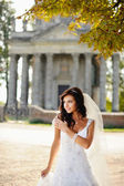 Beautiful bride posing — Stock Photo