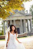 Gorgeous bride walking — Stock Photo