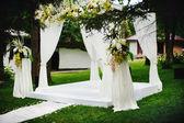 Wedding ceremony outside — Stock Photo