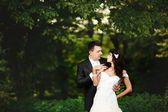 Weddiing couple portrait — Stock Photo